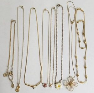 Chain Necklace Lot Of 8 Wearable Bundle